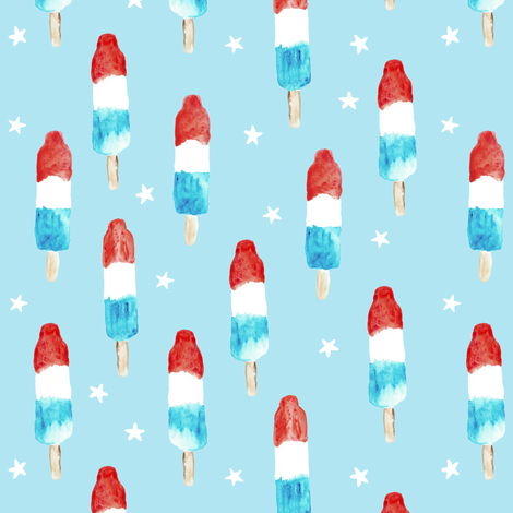 bomb pops with stars  fabric by littlearrowdesign on Spoonflower - custom fabric