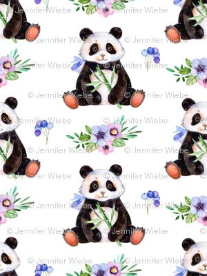 Floral Pandas