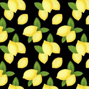 Lemons on Black