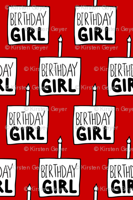 Birthday Girl Red - Small