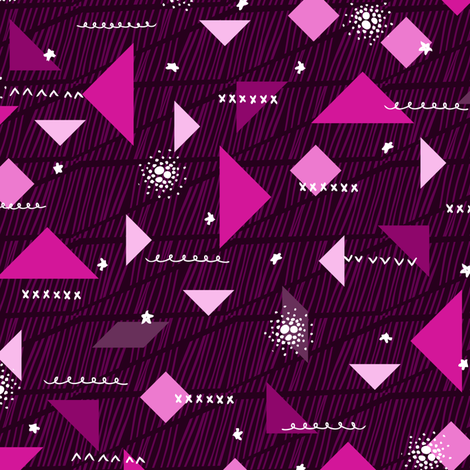 Tangram Shapes fabric by robyriker on Spoonflower - custom fabric