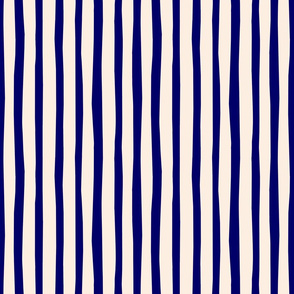 Blue and Cream Vertical Stripes