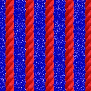 red rope on blue