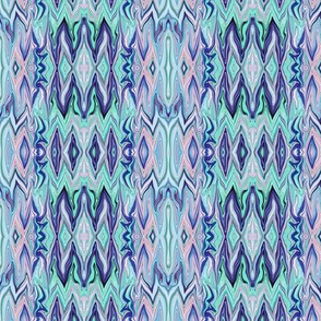 Digital Dalliance, pink, aqua and blue