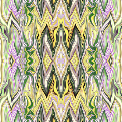 Digital Dalliance, lavender, yellow and green