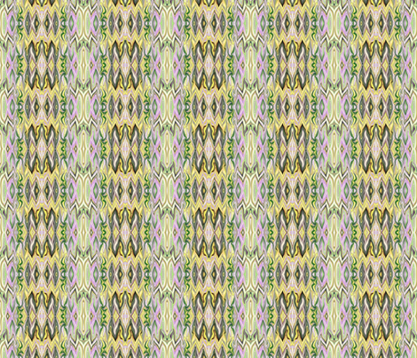 Digital Dalliance, lavender, yellow and green fabric by maryyx on Spoonflower - custom fabric