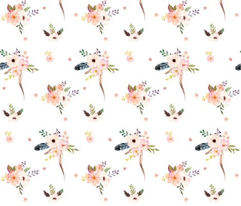 "7"" Boho Pink / Mix & Match Print fabric by shopcabin on Spoonflower - custom fabric"