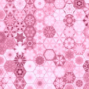 Snowcatcher Rose Ocean Hexies