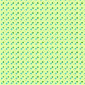 light green dots