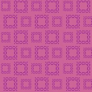 Fuschia squares