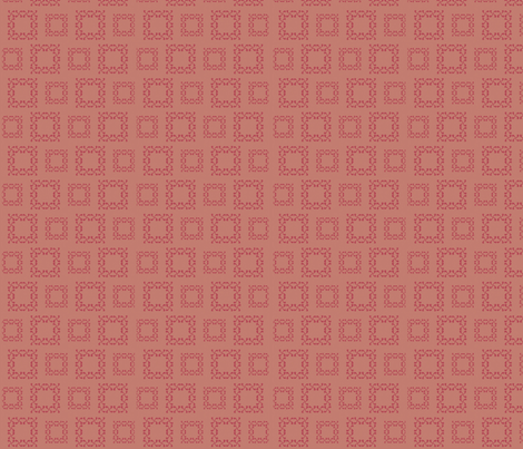 red squares fabric by twigsandblossoms on Spoonflower - custom fabric