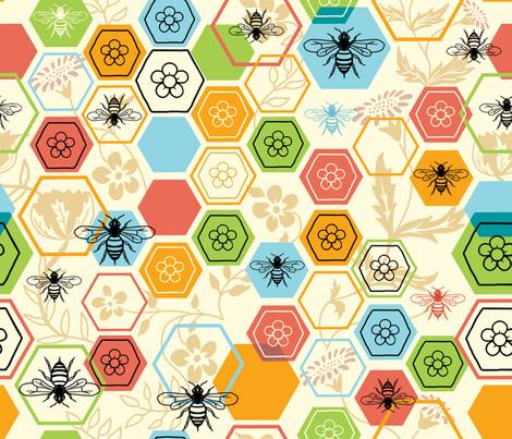 Hexagon Garden fabric by vinpauld on Spoonflower - custom fabric