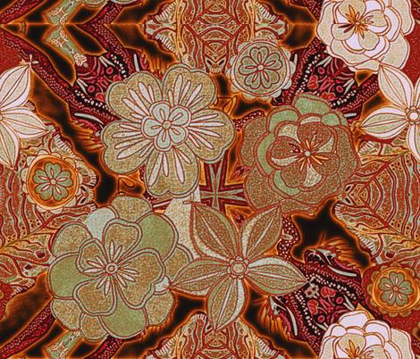 fall_flowers fabric by isabella_asratyan on Spoonflower - custom fabric