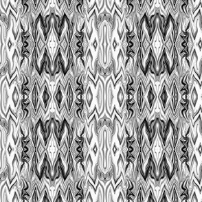 Digital Dalliance, white and black