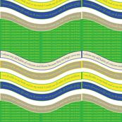WAVE-BYCG Blazing Yellow / Classic Green