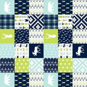 "3"" small scale - Bear creek patchwork 