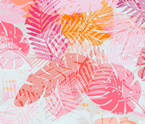 Tropical Palms fabric by fable_design on Spoonflower - custom fabric