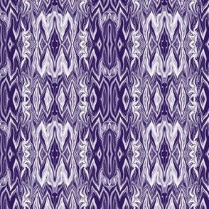DGD20 - Medium - Rococo Digital Dalliance with Hidden Gargoyles in Blue Violet Monochrome