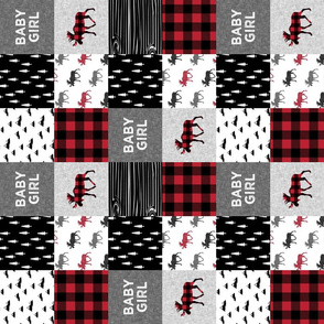 "3"" small scale - baby girl quilt top 