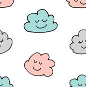 Sleepy Clouds in Pastel Colours Big Size