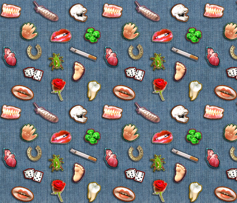 Patches - medium fabric by rawbonestudio on Spoonflower - custom fabric