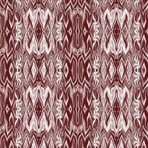 Digital Dalliance, maroon monochrome, brown monochrome