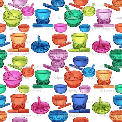 Tibetan Singing Bowl in Color