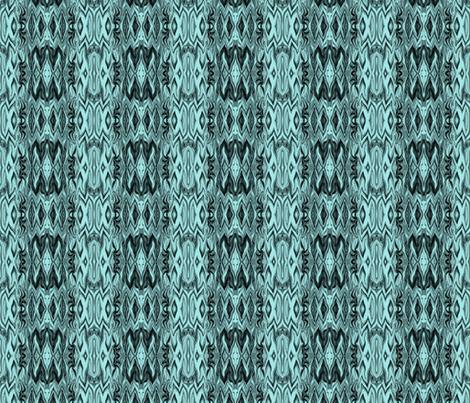 Digital Dalliance, Turquoise on Black fabric by maryyx on Spoonflower - custom fabric