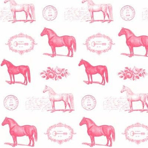 Paris Horses in Pink