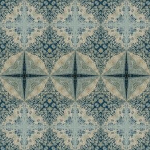Faded denim tiles