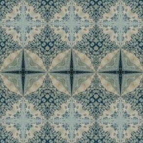 Faded denim tiles