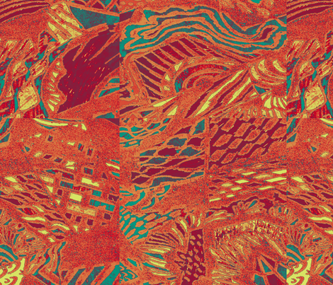 landscape_in_red fabric by isabella_asratyan on Spoonflower - custom fabric