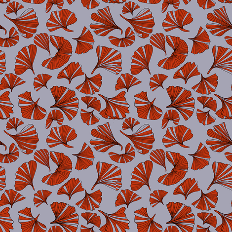 Gingko leaves (Bold)2 fabric by inky_leguin on Spoonflower - custom fabric