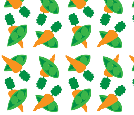 Peas and Carrots Doubled Up - Large Print fabric by pumpkintreelane on Spoonflower - custom fabric
