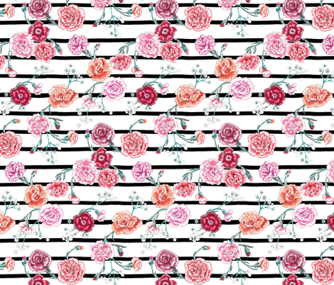 Carnation Kate fabric by graceful on Spoonflower - custom fabric