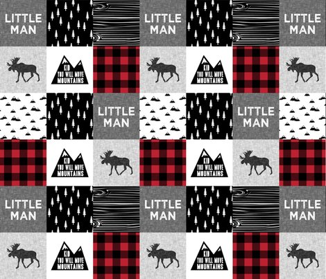 Rlittle_man_quilt_top_with_kid_you_will_move_mountains_monochrome_with_red-01_shop_preview