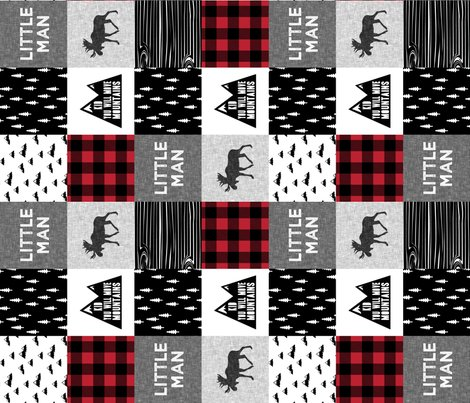 Rlittle_man_quilt_top_with_kid_you_will_move_mountains_monochrome_with_red-02_shop_preview
