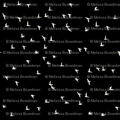 Scattered Flock of Birds (black)
