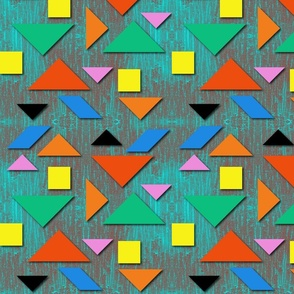 Tangrams. Pattern from geometric shapes