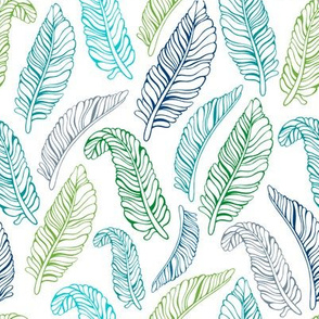 Exotic palm leaves