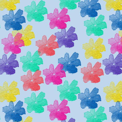 Beyond the Rainbow Flowers 5 fabric by anniedeb on Spoonflower - custom fabric