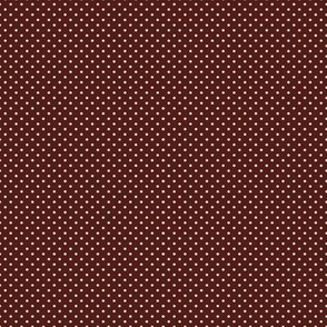 Cream Dots on Barn Red