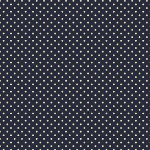 Cream Dots on Blue