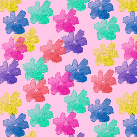 Beyond the Rainbow Flowers 1 fabric by anniedeb on Spoonflower - custom fabric