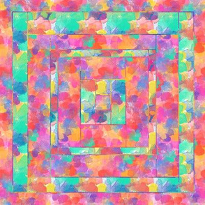 Beyond the Rainbow Quilt Block 1