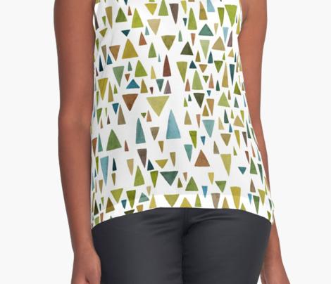 Watercolor greenery triangle fantazy