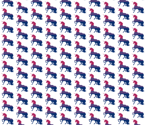 Pink, Purple and Blue Unicorn - Unicorn Pride - Small  fabric by cdmackeyfree on Spoonflower - custom fabric