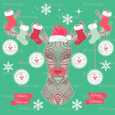 Happy Holiday Deer