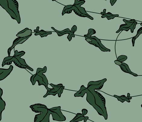 green-ivy fabric by breadcrumbs on Spoonflower - custom fabric