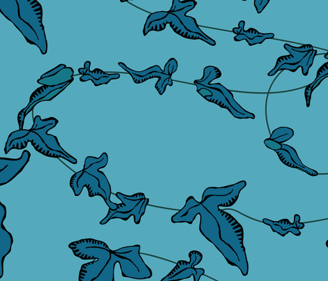 blue-ivy fabric by breadcrumbs on Spoonflower - custom fabric